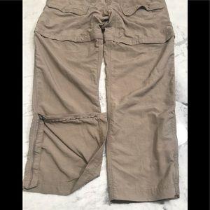 The Norrhface convertible hiking pants sz L